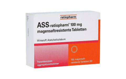 ASS ratiopharm 100 mg magensaftresistent   100 Tbl.  2,95 €