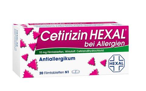 Cetirizin Hexal Filmtbl.    20 St.    5,95€