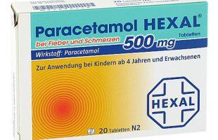 Paracetamol 500 Hexal  20 Tbl.    1,50 €