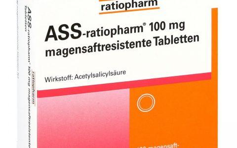 ASS ratio 100 mg magensaftresistent  100 Tbl.  2,70 €
