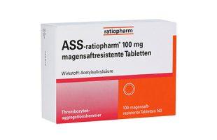 ASS-ratiopharm  100 mg magensaftresistent   100 Tbl.   2,70 €