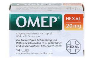 Omep Hexal 20 mg magensaftresist. Kapseln 14 St.     8,95 €