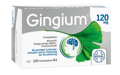 Gingium 120 mg Filmtabletten    60 St.     34,95 €