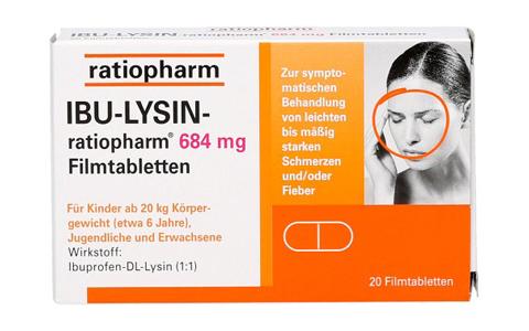 Ibu-Lysin ratiopharm  684 mg    20 Ftbl.   6,95 €