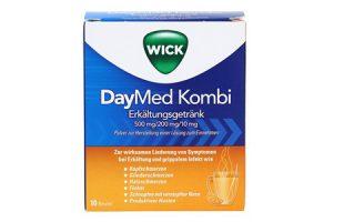 Wick Daymed Kombi Erkältungsgetränk   10 Btl.      8,95 €