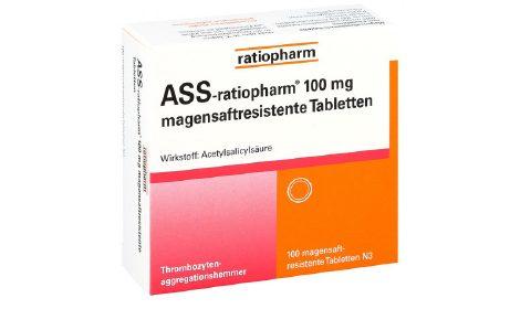 ASS-ratiopharm 100 mg magensaftresistent  Tbl.      100 St.   2,75 €